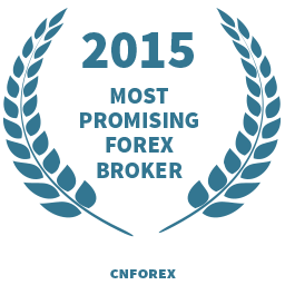 2015 Most promising forex broker award